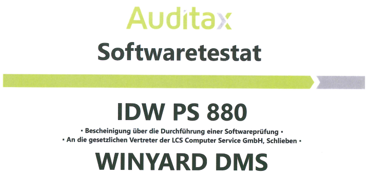 LCS_Softwaretestat_PS_880_Auditax_s